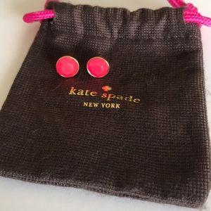 Kate Spade Pink Gold Studs